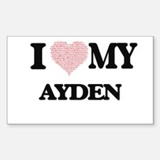I Love my Ayden (Heart Made from Love my w Decal