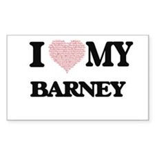 I Love my Barney (Heart Made from Love my Decal