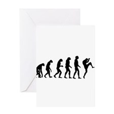 Evolution of Kickboxing - Male Greeting Cards