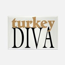 Turkey Diva Rectangle Magnet