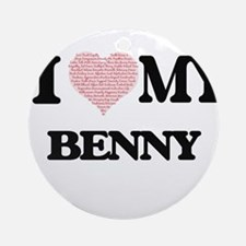 I Love my Benny (Heart Made from Lo Round Ornament