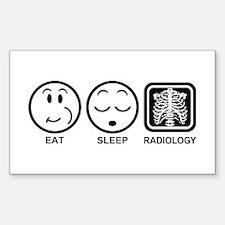 Eat Sleep Radiology Decal