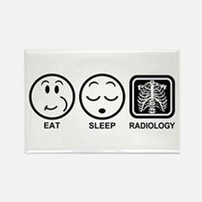 Eat Sleep Radiology Rectangle Magnet