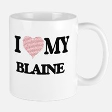I Love my Blaine (Heart Made from Love my wor Mugs