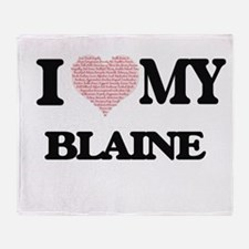 I Love my Blaine (Heart Made from Lo Throw Blanket