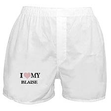 I Love my Blaise (Heart Made from Lov Boxer Shorts