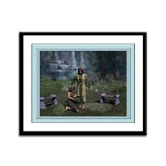 In the Garden - 12x9 Framed Print