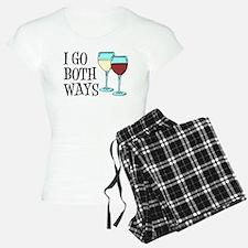 I Go Both Ways Wine Pajamas
