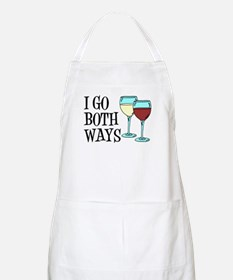I Go Both Ways Wine Apron