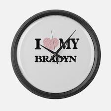 I Love my Bradyn (Heart Made from Large Wall Clock