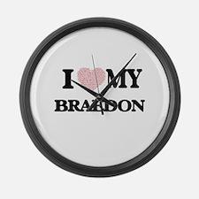 I Love my Braedon (Heart Made fro Large Wall Clock