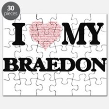 I Love my Braedon (Heart Made from Love my Puzzle