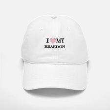 I Love my Braedon (Heart Made from Love my wor Baseball Baseball Cap