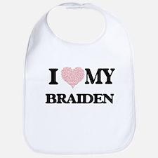 I Love my Braiden (Heart Made from Love my wor Bib