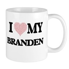 I Love my Branden (Heart Made from Love my wo Mugs