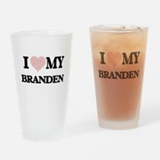 I Love my Branden (Heart Made from Drinking Glass