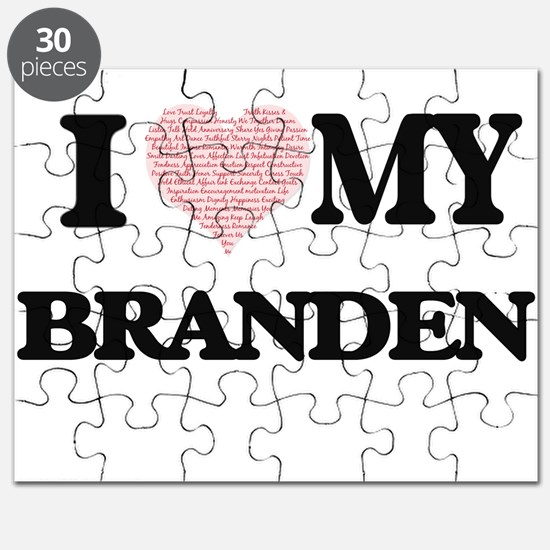 I Love my Branden (Heart Made from Love my Puzzle