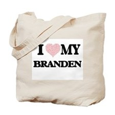 I Love my Branden (Heart Made from Love m Tote Bag