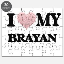 I Love my Brayan (Heart Made from Love my w Puzzle