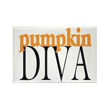 Pumpkin Diva Rectangle Magnet