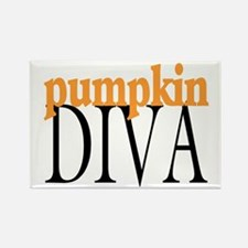 Pumpkin Diva Rectangle Magnet