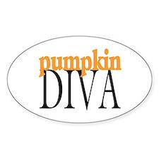 Pumpkin Diva Oval Decal