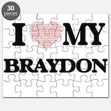 I Love my Braydon (Heart Made from Love my Puzzle