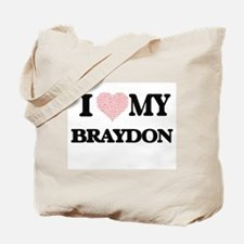 I Love my Braydon (Heart Made from Love m Tote Bag