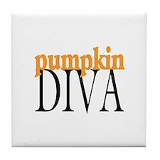 Pumpkin Diva Tile Coaster