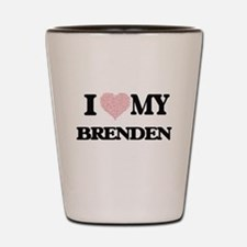 I Love my Brenden (Heart Made from Love Shot Glass