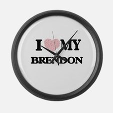 I Love my Brendon (Heart Made fro Large Wall Clock