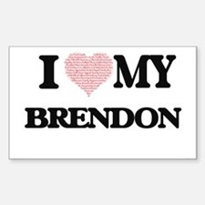 I Love my Brendon (Heart Made from Love my Decal