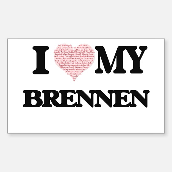 I Love my Brennen (Heart Made from Love my Decal