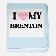 I Love my Brenton (Heart Made from Lo baby blanket