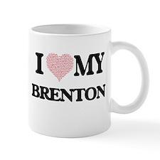 I Love my Brenton (Heart Made from Love my wo Mugs