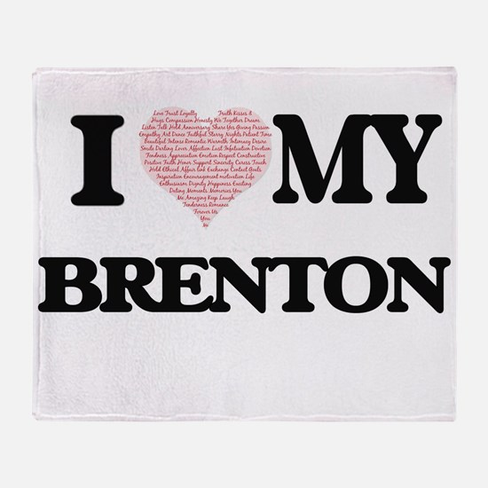 I Love my Brenton (Heart Made from L Throw Blanket