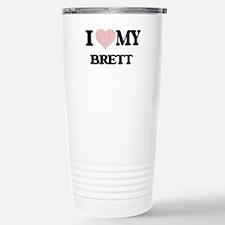 I Love my Brett (Heart Travel Mug