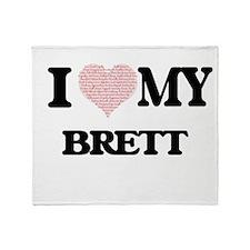 I Love my Brett (Heart Made from Lov Throw Blanket