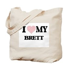 I Love my Brett (Heart Made from Love my Tote Bag