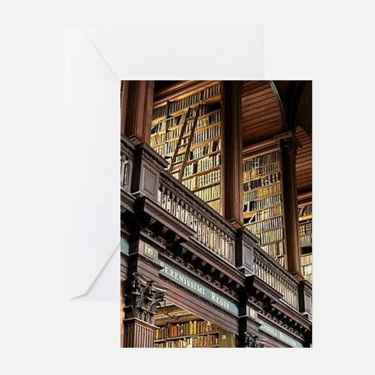 Classic Literary Library Books Greeting Cards
