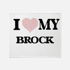 I Love my Brock (Heart Made from Lov Throw Blanket