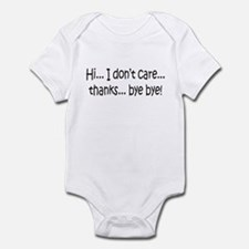 Dont Care Infant Bodysuit