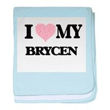 I Love my Brycen (Heart Made from Lov baby blanket