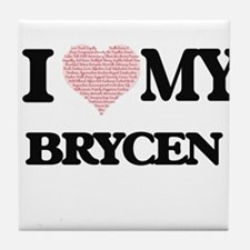 I Love my Brycen (Heart Made from Lov Tile Coaster
