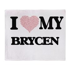 I Love my Brycen (Heart Made from Lo Throw Blanket