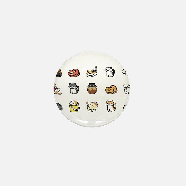 Neko Atsume Mini Button
