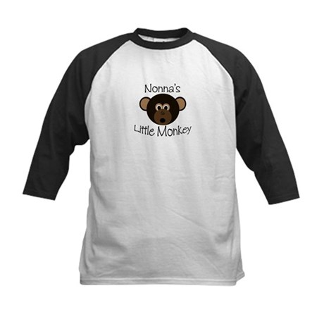 Nonna's BOY Little Monkey Kids Baseball Jersey