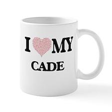 I Love my Cade (Heart Made from Love my words Mugs