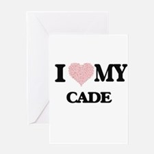 I Love my Cade (Heart Made from Lov Greeting Cards