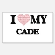 I Love my Cade (Heart Made from Love my wo Decal
